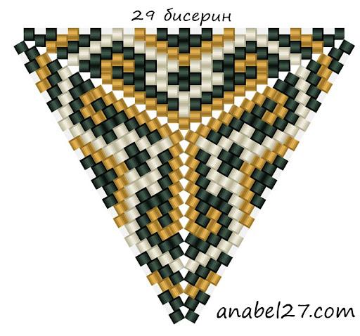 схемы треугольников из бисера