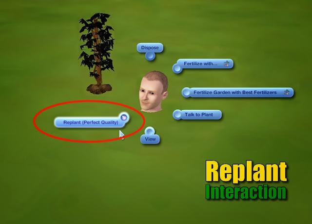 Mod replantar Sims 3