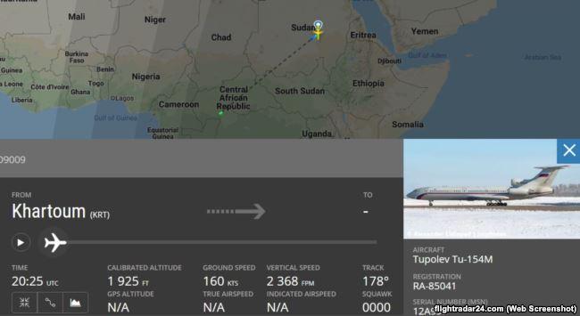 Рейс Хартум – Банги на FlightRadar24