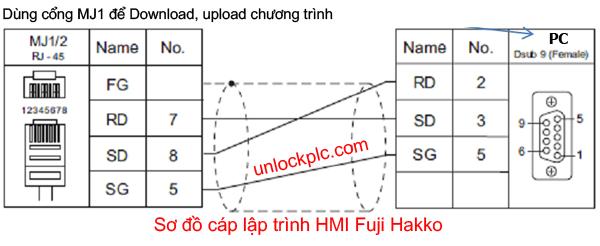Fuji Programming Cable