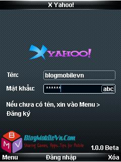 XYahoo X Yahoo 1.0.4   Chat Yahoo trên dế yêu