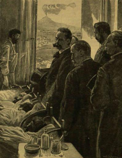 Umberto olasz király látogatása a nápolyi kholera-betegeknél