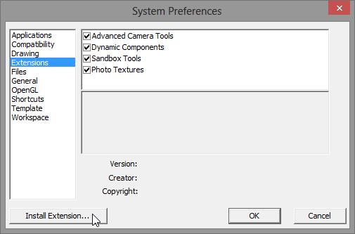 การติดตั้ง Extensions ให้กับ SketchUp 2013 และวิธีการแก้ปัญหาสำหรับ Extensions ที่ไม่ยอมทำงาน Su2013re26