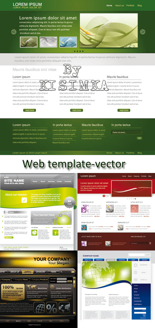 Stock: Web template - vector