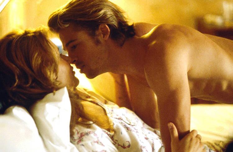 Brad Pitt en la gran pantalla con Geena Davis