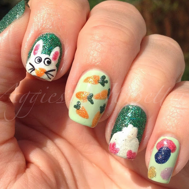 Easter Bunny Nails: Aggies Do It Better: Easter Nails 2014: Easter Bunny