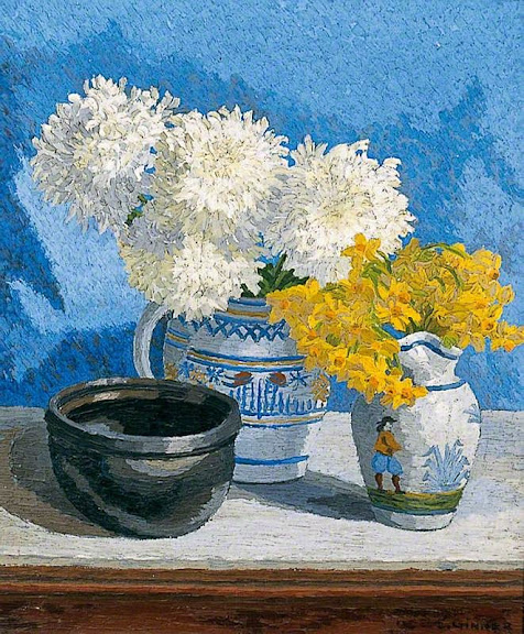 Charles Ginner - Still Life with Flowers