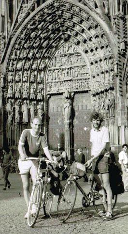 Christoph & Harmut im September 1987 vor dem Strasbourger Münster, Frankreich