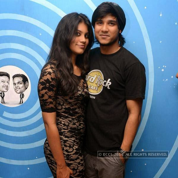 Aarti poses with Rohit during a party organised at Small World pub in Chennai.