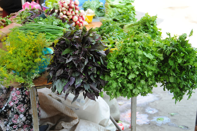 herbs at the Tbilisi outdoor market