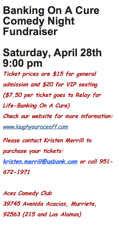 relay for life fundraiser