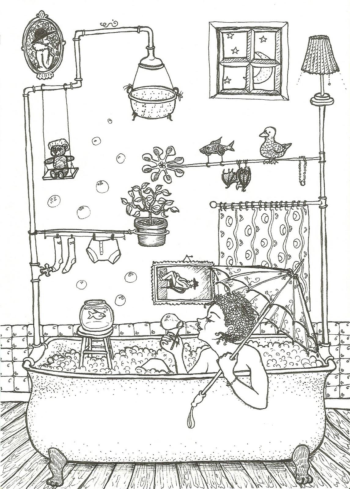 Margherita disegna...: ...una comune vasca da bagno.