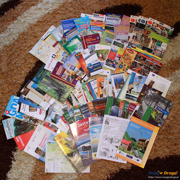 Kaszubskie mapy, regionalne publikacje, przewodniki i ulotki