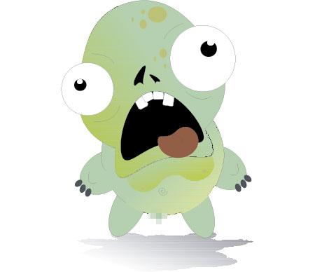Wiener Zombie Paper Toy