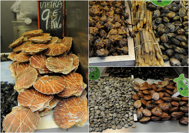 seafood, malaga covered market, spain