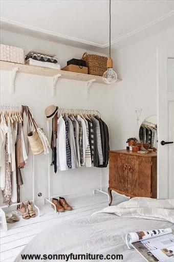 Mách bạn cách biến chỗ bừa bộn thành tủ quần áo gọn gàng-4