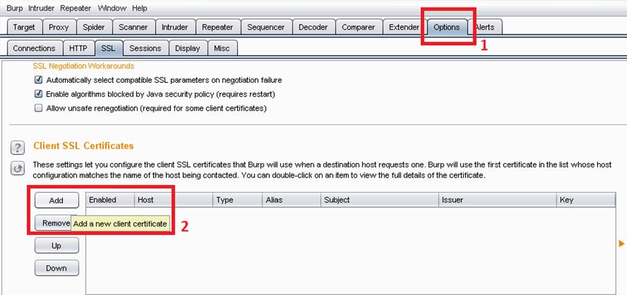 Using Client SSL Certificates with Burp Suite ~ SmeegeSec