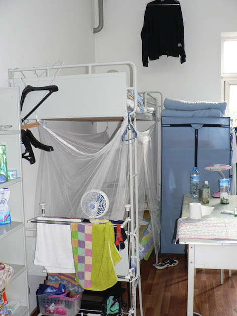 bunk bed in a dorm at Dalian Maritime University in China