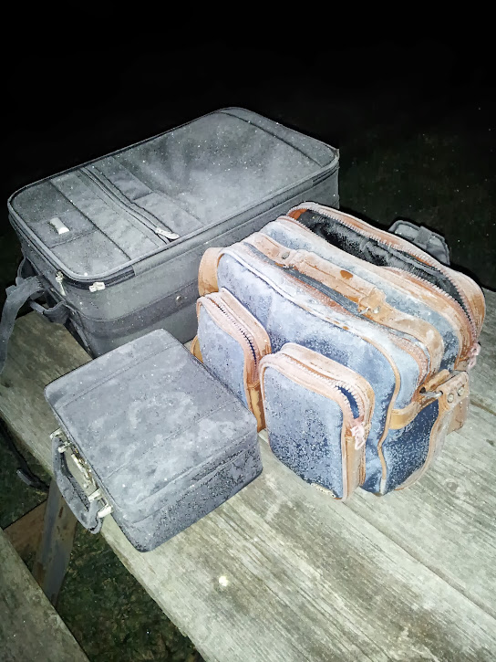 Frozen astrophotography equipment cases