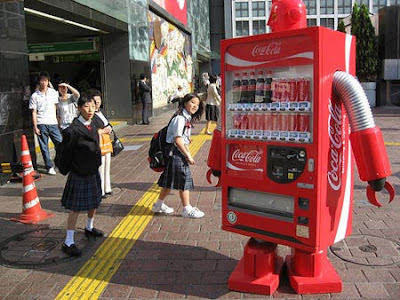 Coca cola I Vending Machine or Jidohanbaiki (自動販売機) di Jepang