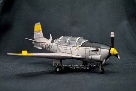 Beechcraft T34C1 Turbo Mentor Papercraft