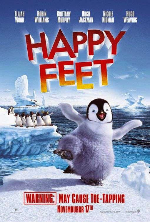 Poster Of Happy Feet (2006) Full Movie Hindi Dubbed Free Download Watch Online At alldownloads4u.com