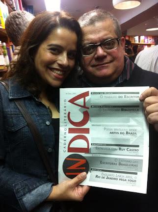 Sílvio Alexandre e Camila Prietto no lançamento. Foto cortesia de Camila Prietto.
