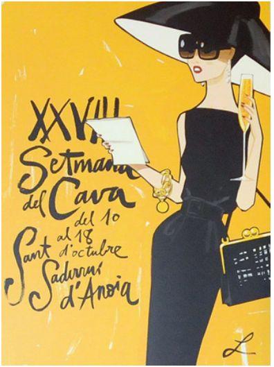 Cartel de la XXVIII semana del cava, ilustrado por Jordi Labanda