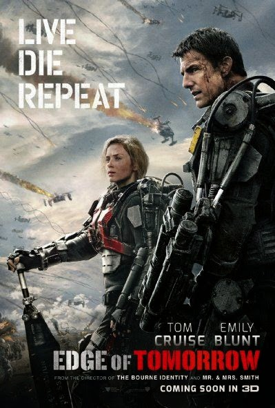 Poster Of Edge of Tomorrow (2014) Full Movie Hindi Dubbed Free Download Watch Online At Alldownloads4u.Com
