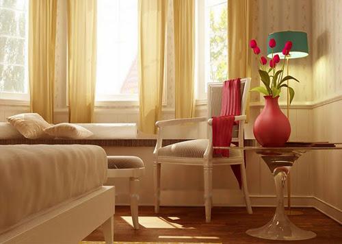 Bộ bàn ghế uống trà được kê trong phong ngủ