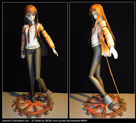 Steins Gate Papercraft Kurisu Makise