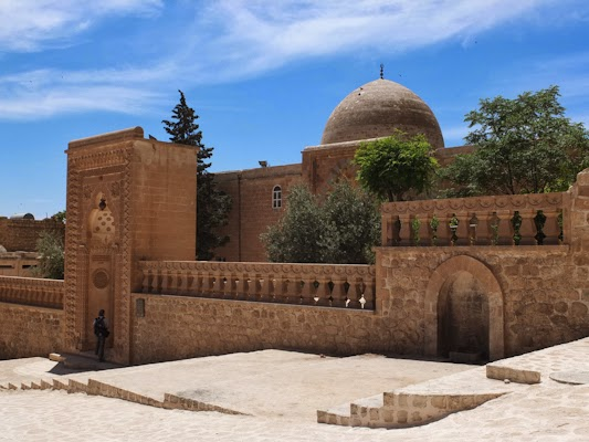 façana de la mesquita d'Ulu CAmii, Mardin, Turquia