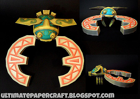 Hook Beetle Papercraft