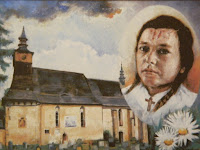 Obraz namalovaný na Slovensku k 50. výročí úmrtí Aničky Tomanové