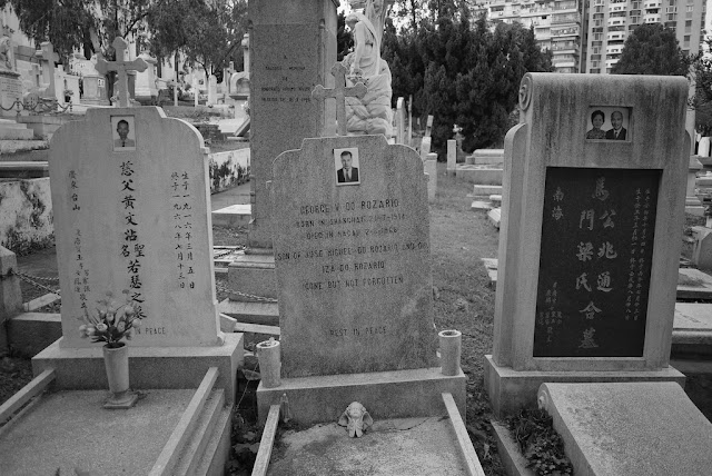 graves at the Cemetery of Saint Michael the Archangel in Macau