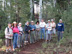 Paseo del Lobo Section 10 with the Pinetop-Lakeside TRACKS hiking group (Photo by J. Davis)