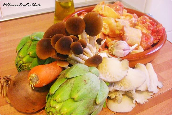 Ingredientes para el pollo de campo de Cocina de La Chata