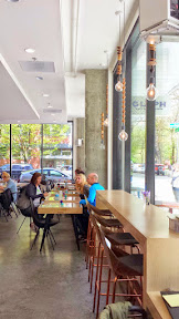 Glyph Café & Art Space interior is clean yet welcoming with carefully curated artistic details