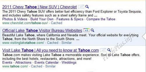 """Nút """"+1"""" xuất hiện kế bên mỗi liên kết trong phần kết quả tìm kiếm từ Google Search"""