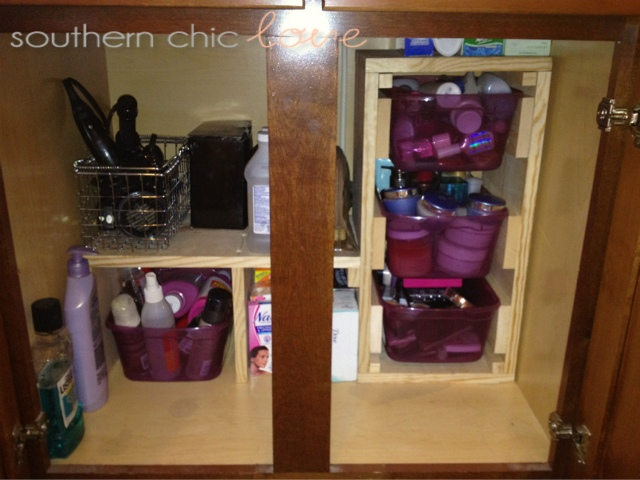 Southern chic love the under the bathroom sink organizer for Bathroom under sink organizer