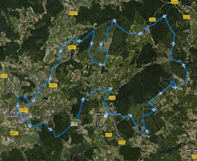 Etoiles de Gimel 2012 - parcours