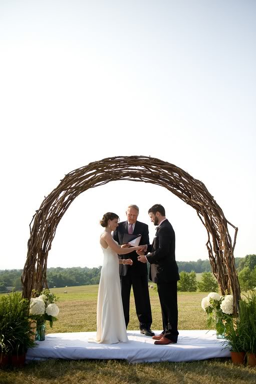 Where Can I Find A Wedding Arch Made Out Of Twisted Twigs