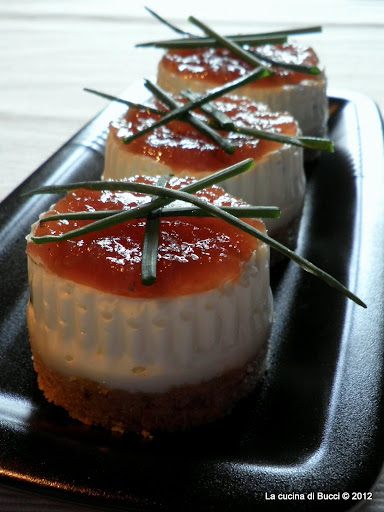 Cheesecake di acciughe