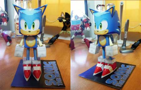 Sonic the Hedgehog Paper Toy