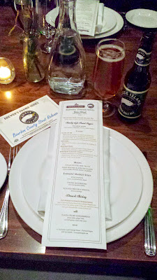 Dinner menu for the Raven and Rose and Goose Island Brewers' Dinner Series event on December 7, 2014