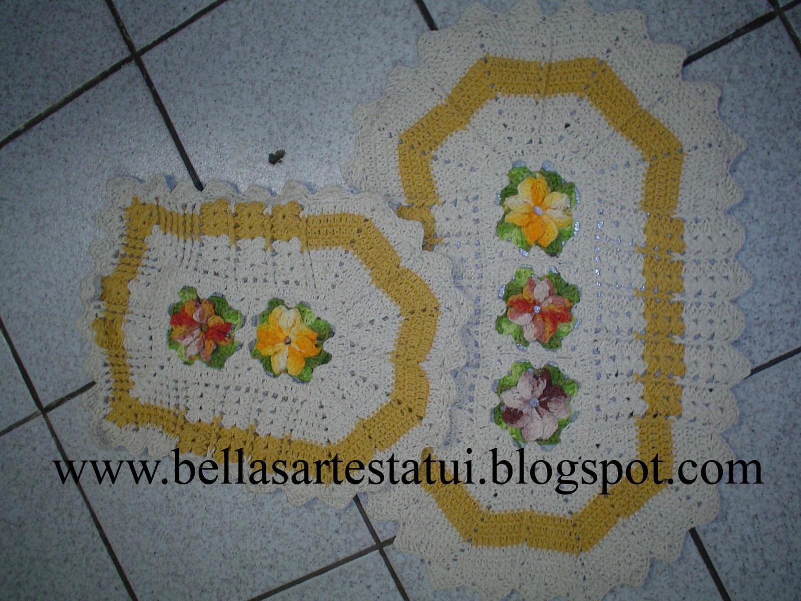 Tapete Do Vaso Em Croche Jogo De Banheiro Barbante Apren Tapete Do #B07713 1600 1200