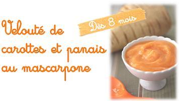 recette bebeveloute carotte panais mascarpone