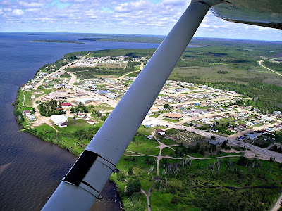 La Loche from the air in summer by Mark Tuite (edited)