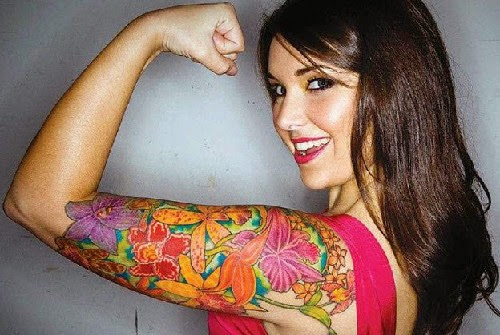 girls arm tattoos