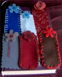 felt homemade bookmarks